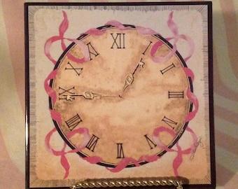 Porcelain Trivet - Detection In Time: Breast Cancer Awareness