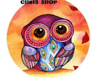 25mm OWL orange background