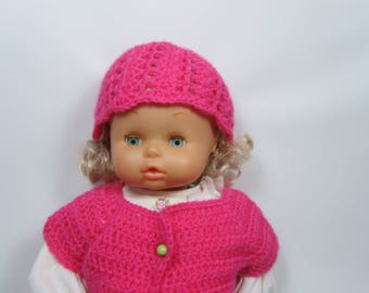 Pink crochet Beanie doll 40cm to order to customize