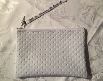White damask clutch
