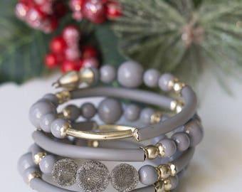Spring Grey or White Bracelet (0148) (0149)