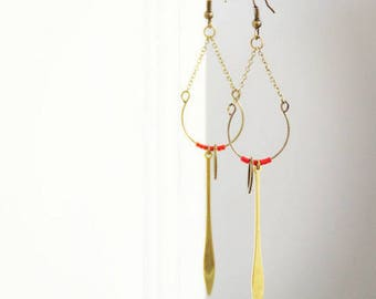 JAWALA earrings / red brass