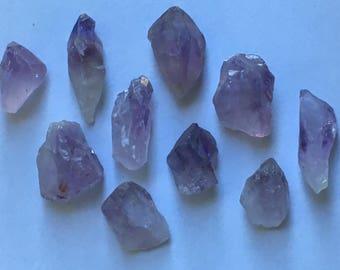 Crystal Healing Natural Amethyst Point Raw Chunk
