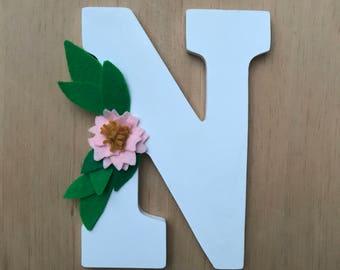 Custom Felt Flower Letter