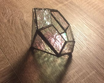 Diamond-Shaped Glass Terrarium