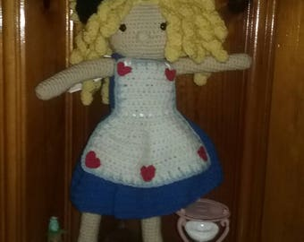Alice in Wonderland Inspired Doll