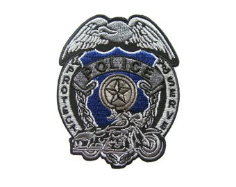 Police Iron On Patch Embroidered Applique Patches For Jackets