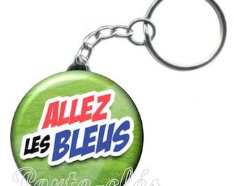 1 badge, football Keychain will Blues
