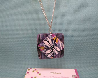 §82§ pendant in polymer clay for this silver necklace