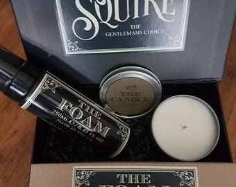 Hair Styling Foam & Candle Gift Set