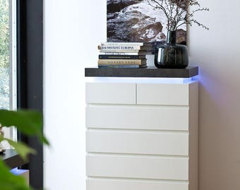 atlan 48677wb tall chest of drawers white matte varnish 6 drawers dresser bedroom