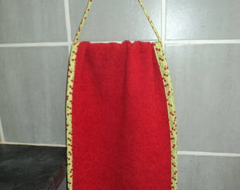 In roll form red pure cotton Terry towel