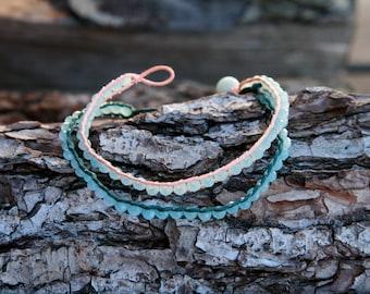 Women's faceted rondelle glass beads bracelet