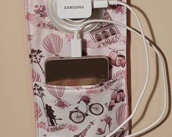 Gift card holder case for cell phone charger