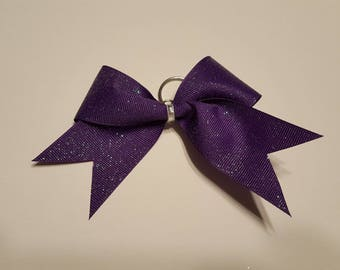 Purple Shimmer Cheer Bow Keychain