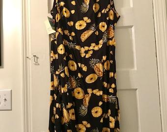 Vintage Reyn Spooner pineapple slice dress