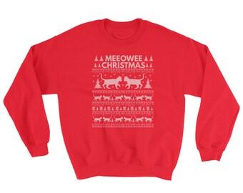 Meeowee Christmas Ugly Christmas Sweatshirt