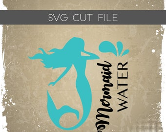 Mermaid Water SVG - Mermaid Life SVG - Mermaid SVG - Mermaid Cutting File - Mermaid Silhouette File for Cutting