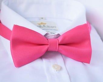 Pink Matt Satin Bow Tie, Pink Matte Bow Tie, Pink Bow Tie, Bow Tie for Men, Mens Bow Tie, Classic Bow Tie, Mens Gift