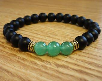 Bracelet Green Aventurine Stone Mala Adjustable SM0041