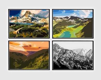 Mountain Art Print, Nature art print, Mountain wall print, Mountain Photography, Landscape, Art Mountain Print, Abstract Mountain print