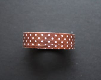 Brown printed cotton polka dot duct tape