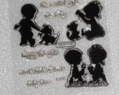 Clear Acrylic Stamp Set by CTMH (Retired)  B1368 Baby Love Stamp Set