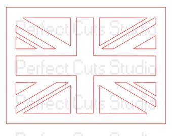 Union Jack Cut File SVG and Studio 3 - British Flag Cut File - British Flag SVG File - Union Jack SVG - Union Jack Flag Cut File