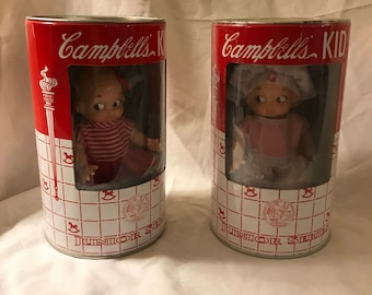 1998 Campbell's Soup Junior Series Dolls Set of 2