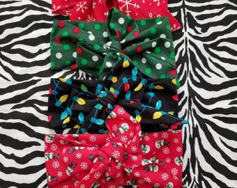 Christmas baby headwraps