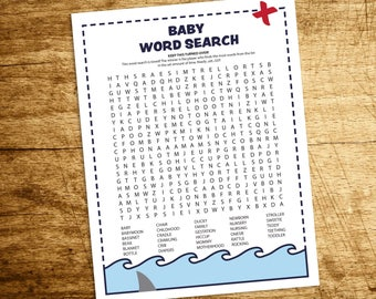 Pirate Baby Shower Word Search Game