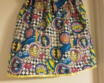 Superheroes Flannel skirt US size 7 girls