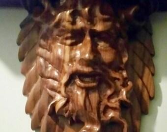 Dionysus, god of wine, corbels, shelves, carved art