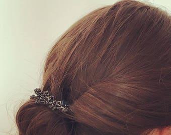 Headdress/Tiara/Silver Bracelet & Onyx
