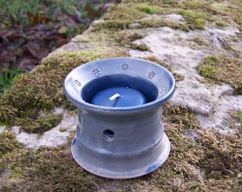 """Earth and jewelry"" ceramic tealight candle holder"