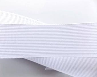 Spool of 25 m 30mm white elastic