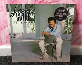 Lionel Richie 'Cant slow down' Vinyl