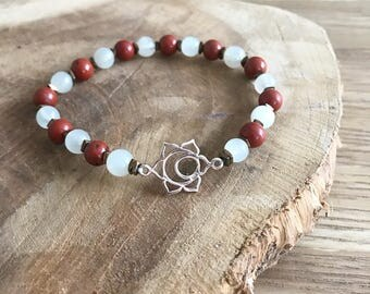 Sacral chakra bracelet and natural stones