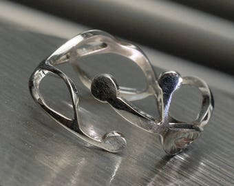Ring 925 sterling silver line points