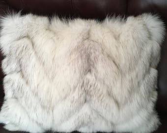Recycled fur pillow