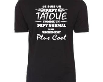 "Personalized men ""tattooed Grandpa"" tee"