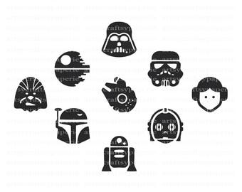 INSTANT DOWNLOAD -  Star Wars SVG Bundles, Star Wars Svg Cut Files, Darth Vader Svg, Star Wars  Clipart, Star Wars Art, Png file, Jedi Svg