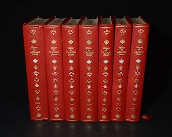 Histoire du Canada français, François Xavier Garneau, books in French, Editions Famot, Genève, 1976, volume 1, 4, 5, 7, 8, 9, 10, 1970s