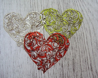 Heart sequin 1162/1320 a cut out of wood for your creation