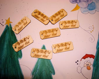 Label Merry Christmas 01554 embellishment wooden creations