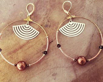 """Bo Creole """"LINA"""" copper plated brass"""