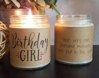 Birthday Girl Soy Candle, Scented Soy Candle Gift, Birthday Gift, Gift for Her, Candle Gift, Personalized Candle, Birthday Candle
