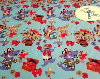 Pirate Animals Cotton Fabric