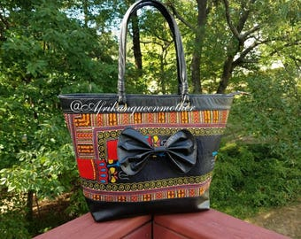 Dashiki Print Tote Bag