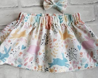 Rabbit skirt and bow set